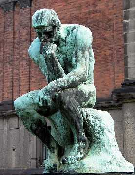 Auguste Rodin: Der Denker, in Ny Carlsberg Glyptotek, Kopenhagen