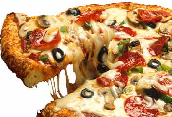 fette pizza