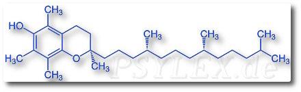 vitamin-e Chemische Strukturformel von Tocopherol
