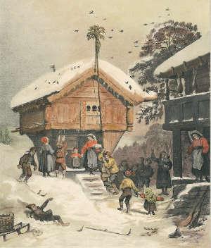 Weihnachtsfeier in Norwegen